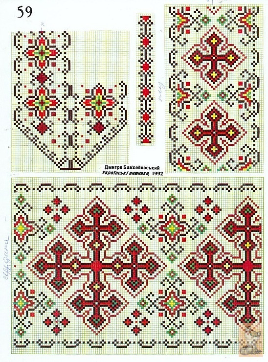 Схемы орнамент для вышивки рушников 69