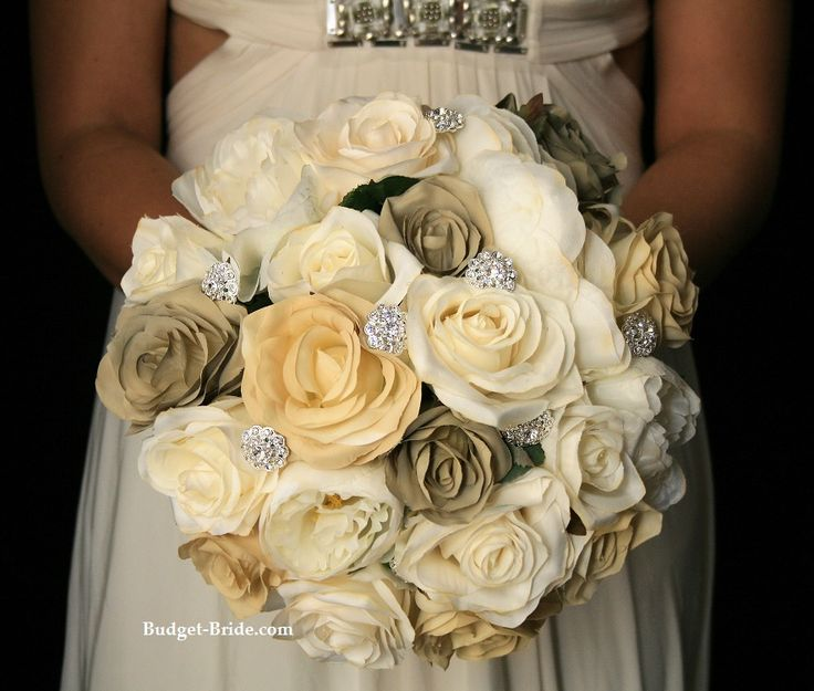 Ivory Beige And Taupe Make For A Stunning Bouquet