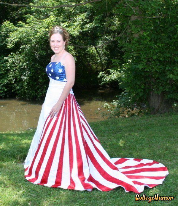 25 best redneck weddings for Rebel flag wedding dresses