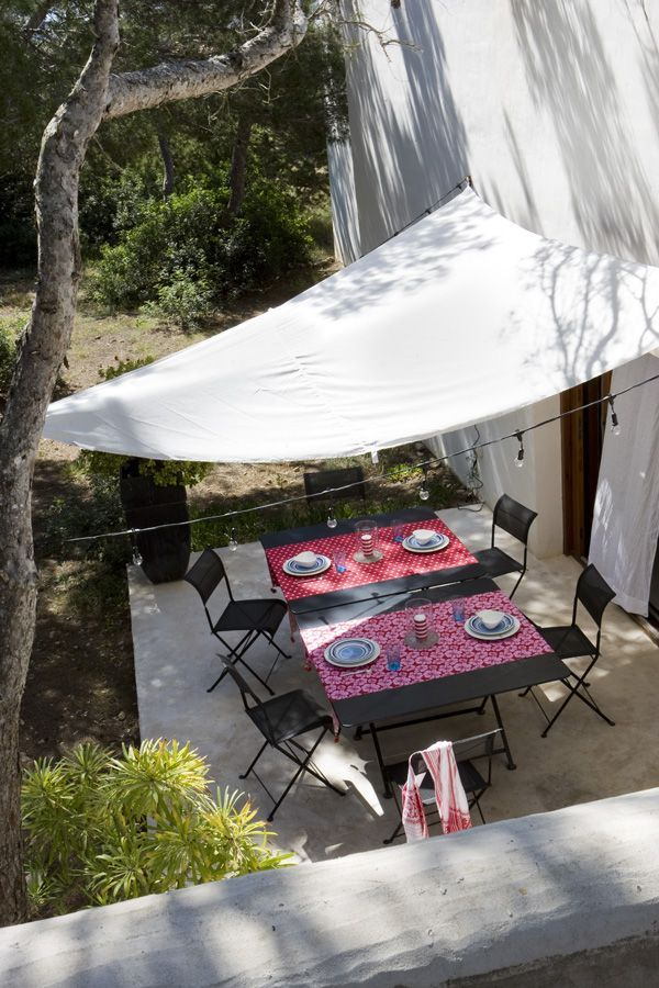sail cloth patio cover yard garden