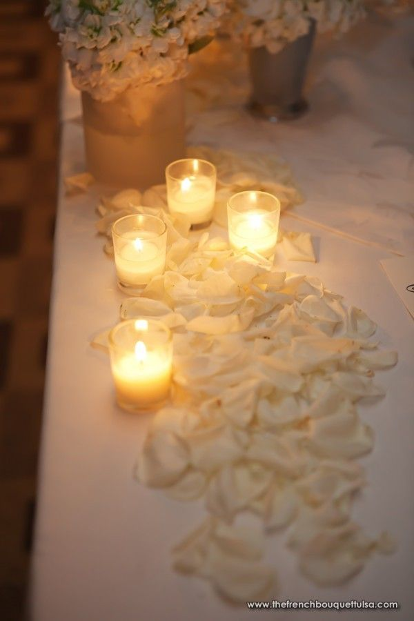 White Petals and Votives