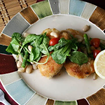 chicken milanese with white-bean salad | Recipes | Pinterest