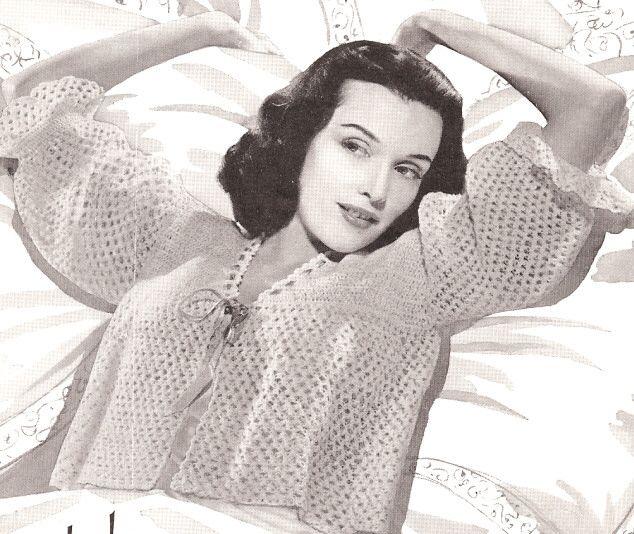 Free Crochet Pattern Bed Jacket : Bed Jacket - Liz The Philadelphia Story Pinterest