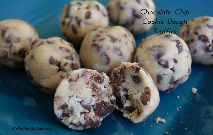 Chocolate Chip Cookie Dough Truffles - Who Needs A Cape?