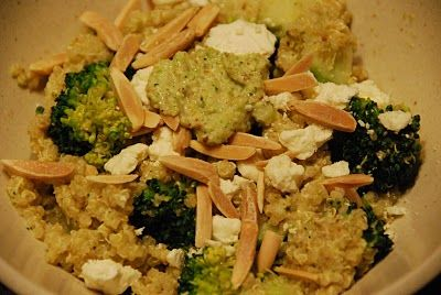double broccoli quinoa from simply wholesome kitchen