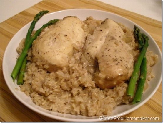 Gluten Free Chicken & Brown Rice (Slow Cooker)