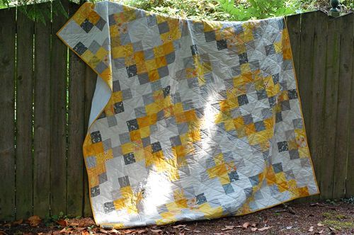 yellow and grey mini squares