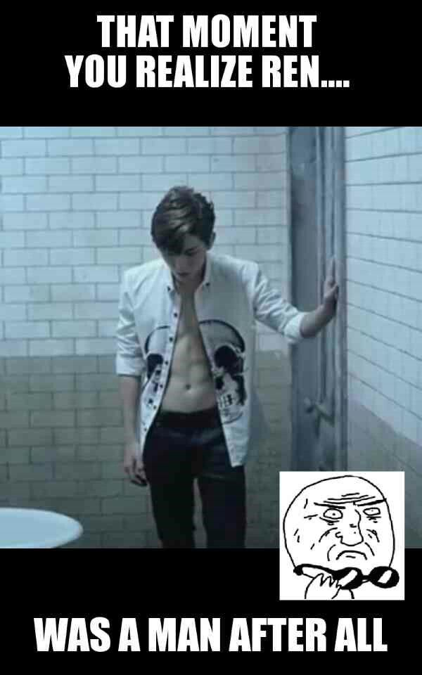Rens new look in Nu'est Good Bye Bye M.V......REN HAS ABBS?!?!? **dies**