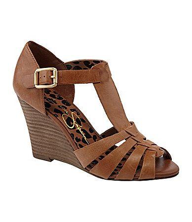 Jessica Simpson Rebi Wedge Sandals #Dillards