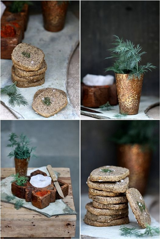 Savoury Dill Cheddar Buckwheat Sables   Passionate About Baking