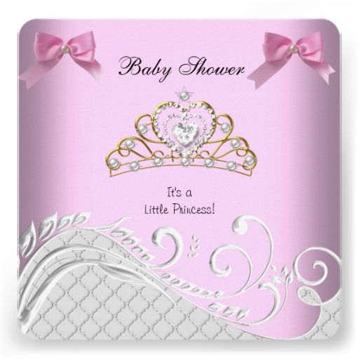 little princess baby shower girl pink white by