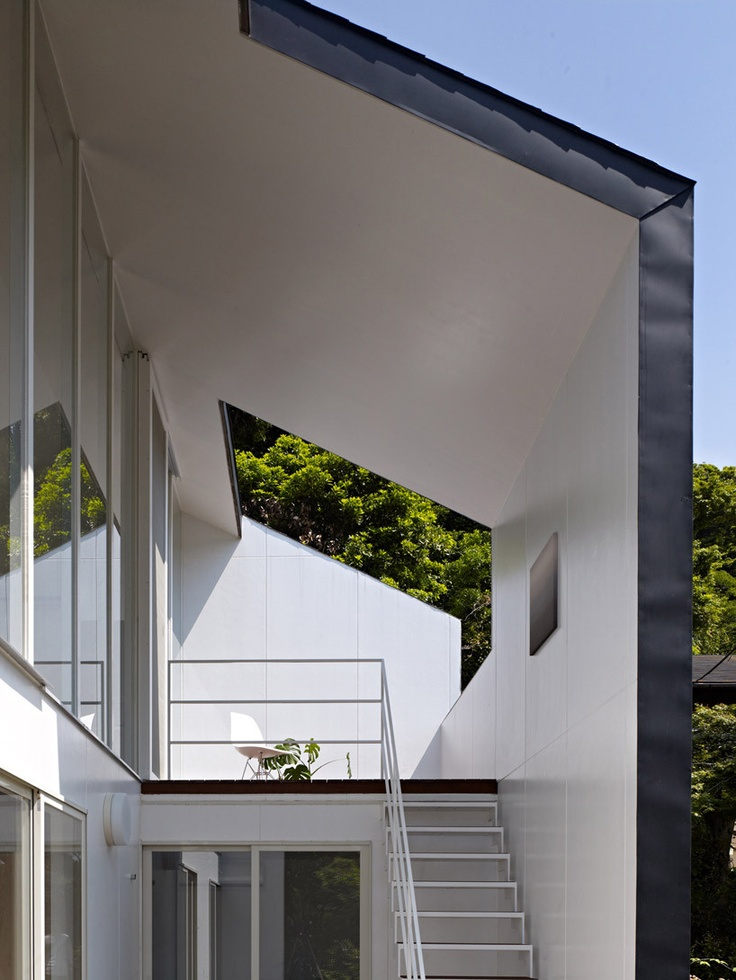 Upper terrace modern gable pinterest for Terrace entrance design