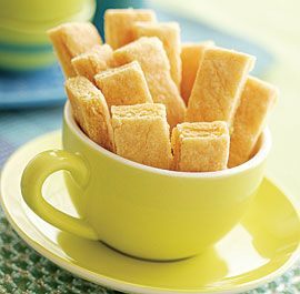 This shortbread is buttery and fragrant with lemon zest. The texture ...