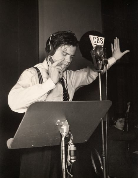 Orson Welles reading H. G. Welles' War of the Worlds on a radio program. Outcome was disastrous for those who tuned in mid-program....complete panic nation-wide.