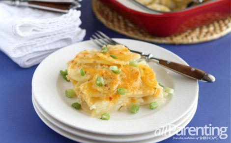 Three cheese potato gratin | Side Recipes | Pinterest