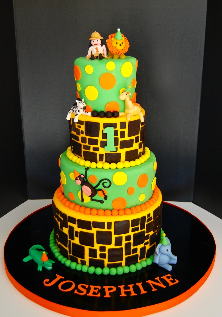 Cake Artista : Safari theme birthday cake! Cake Art Created by Artista ...