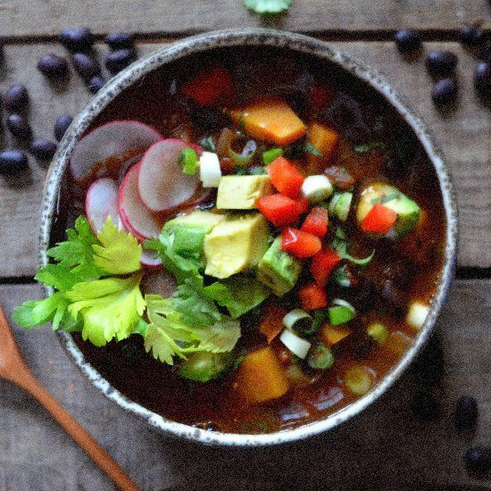 Warm and Smoky Vegetarian Chili with Black Beans, Butternut Squash ...