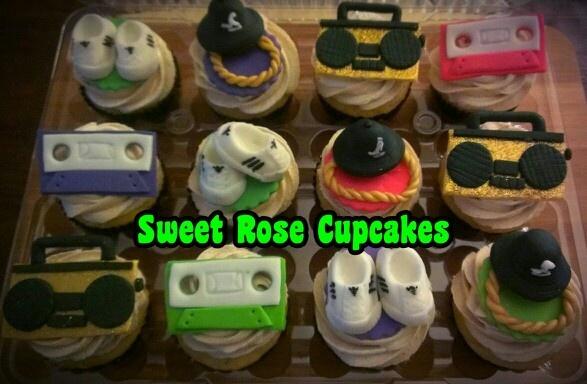 80s Hip Hop | Sweet Rose Cakes & Cupcakes by Maria Almeida | Pinterest