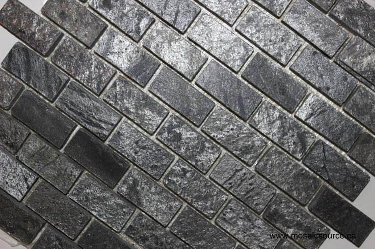 silver grey brick slate mosaic tile backsplash floor tiles bath bar p