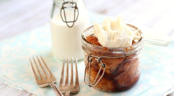 Monkey Bread in a Jar... I would do 1/4 sugar & 1/4 brown sugar...