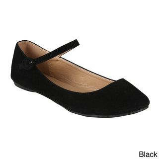 Girls's Black Velvet dress shoes