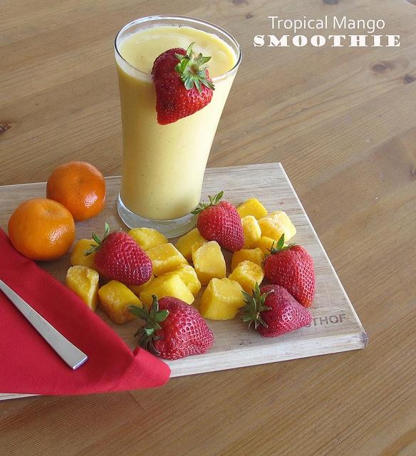 Mango Smoothie - pineapple, coconut, mango, banana and greek yogurt ...