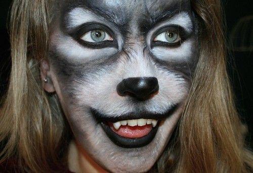 Wolf costuming makeup | Halloween Costumes | Pinterest