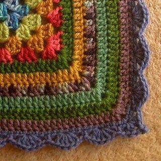 multi color crochet edge Crochet Pinterest