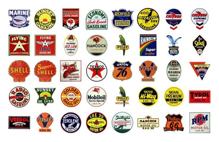 retro gas station logos logo stuff pinterest