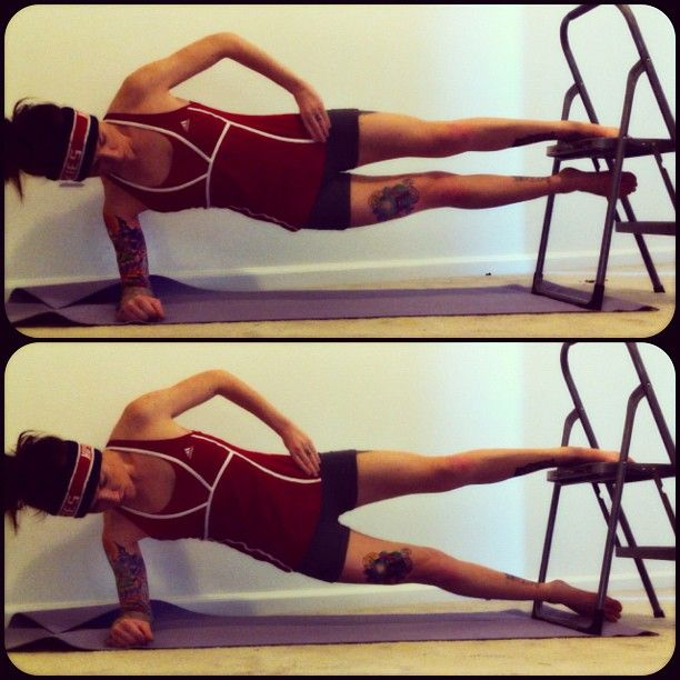 Inner-thigh workout-no stool/use the bottom stair