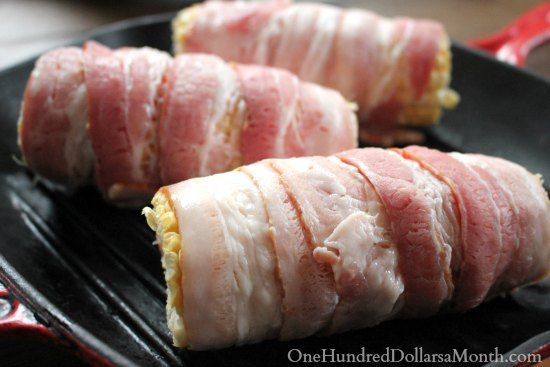 Bacon Wrapped Corn on the Cob | Favorite Recipes | Pinterest