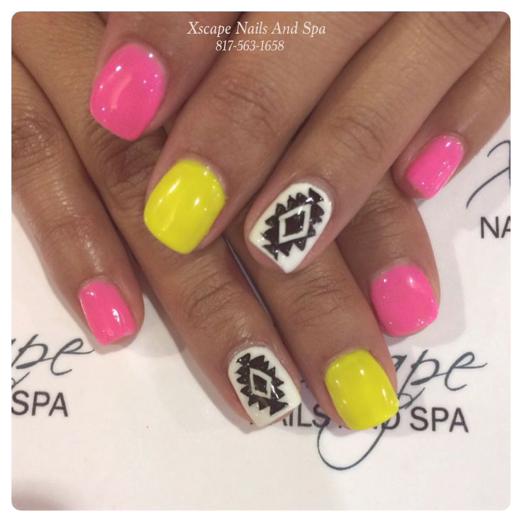 Cute Aztec Designs Aztec Nails Designs