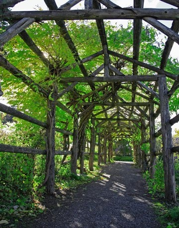 tunnel path rustic arbor Arbors Tunnels