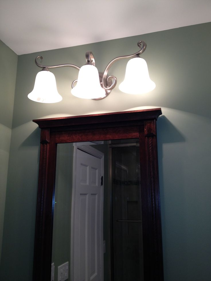 Bathroom lighting for above a mirror bathroom pinterest for Bathroom lights above mirror