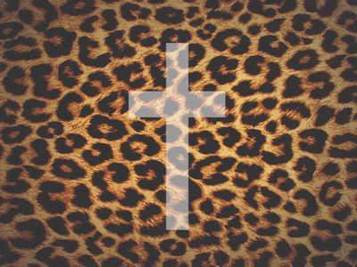 cheetah print cross iphone wallpaper