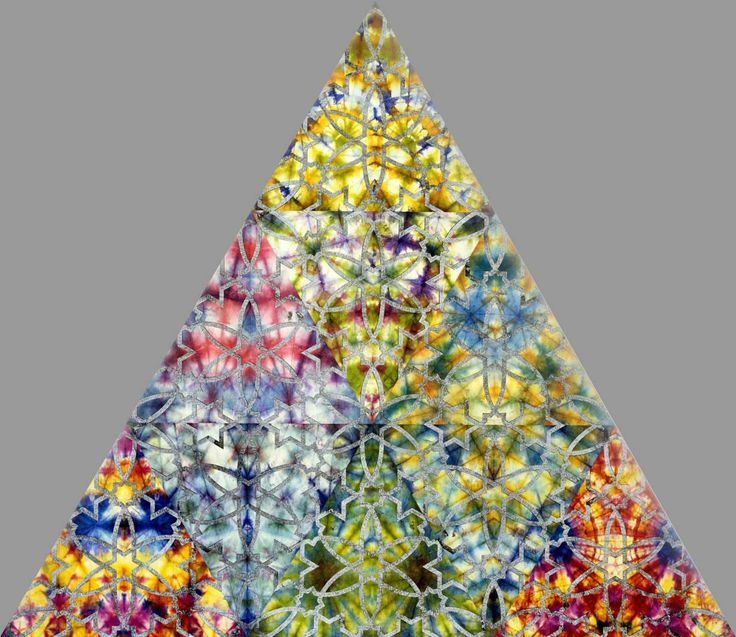 Philip Taaffe.  Bardo-Triangle-(2009)-
