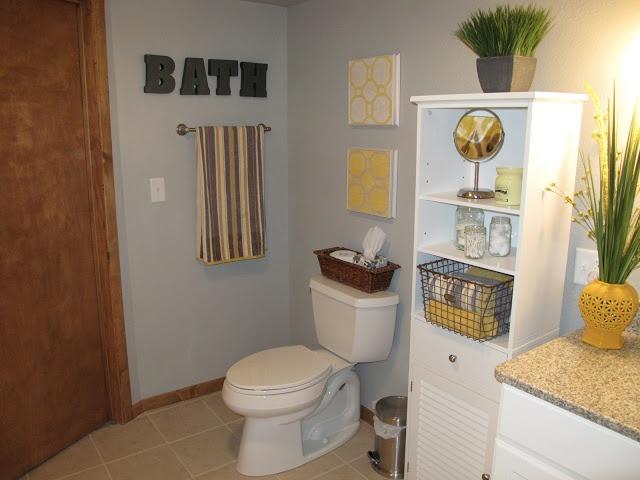 Yellow And Gray Basement Bathroom Home Pinterest