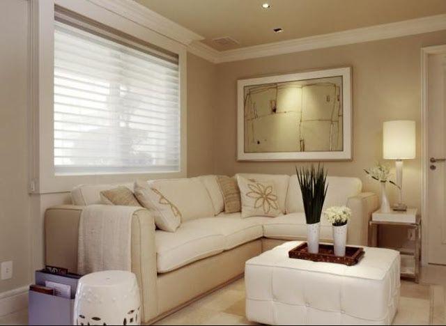 tons claros ampliam  Salas de estar e salas de tv  Pinterest