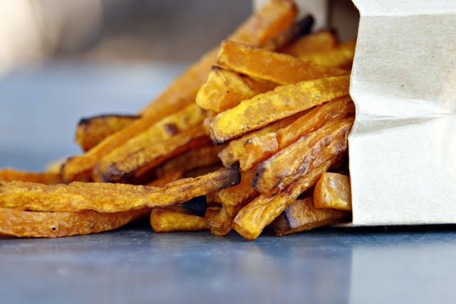 Butternut Squash Fries - no oil. treatment includes sweating the cut ...