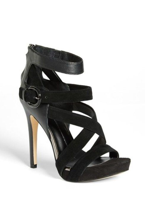 Suede Sandal Black 8 M gifters.com black dress shoes for women
