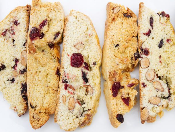 Cranberry Almond Biscotti - Just 4T of butter. The recipe actually ...