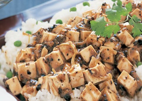Stir-Fried Tofu and Shiitake Mushrooms in Spicy Black Bean Sauce | Re ...