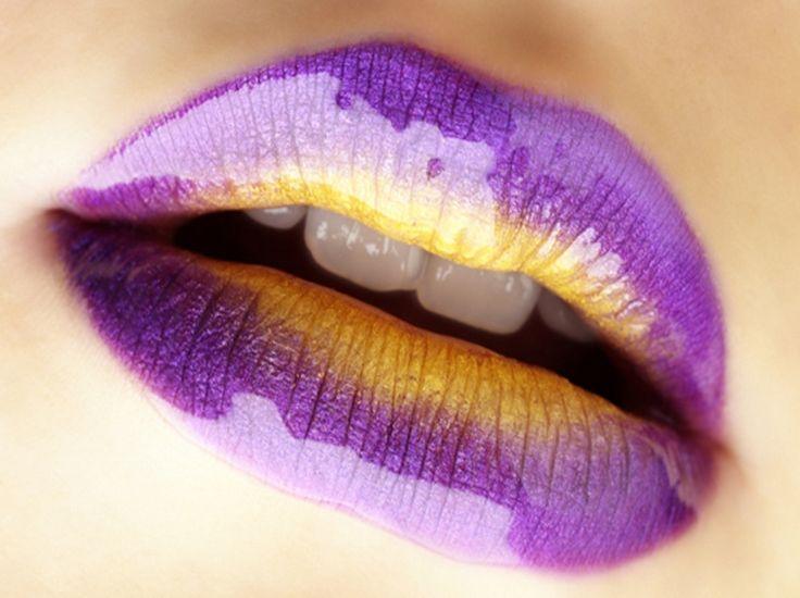 LIPS: purple & gold
