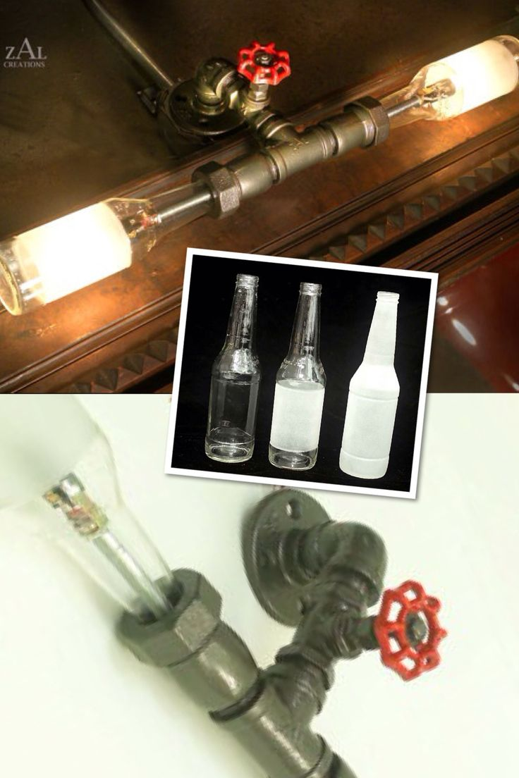 Pin by caleb switzer on for the home pinterest - Beer bottle light fixture ...