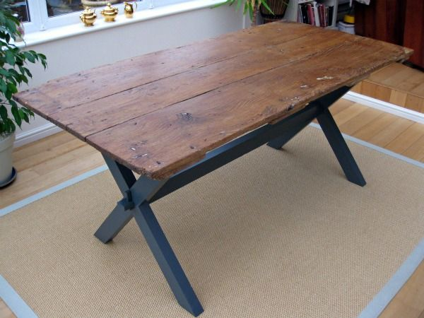 Old Barn Door Turned Into Dining Table
