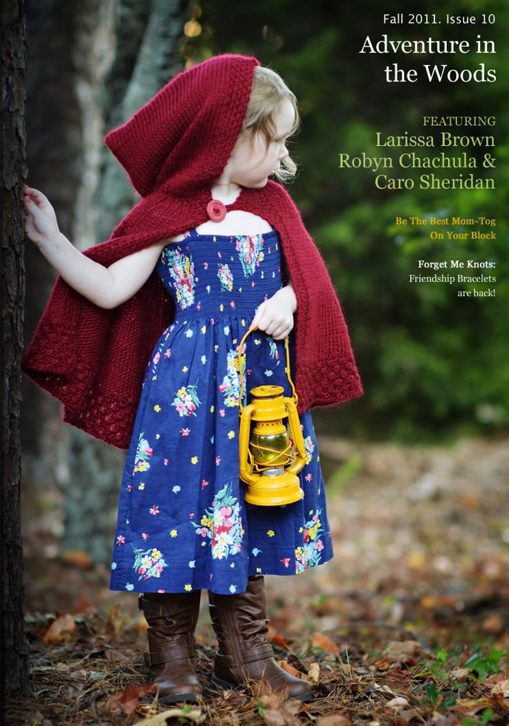 Red Cape Knitting Pattern : love this little red riding hood cape Knitting For The Kiddos Pinterest