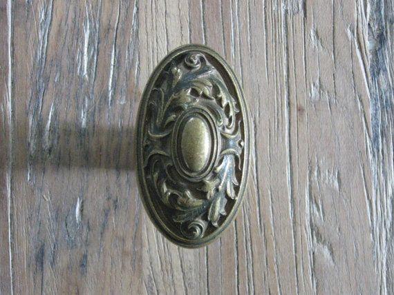 Antique brass door knobs - Antique Decorative Brass Oval Door Knob Door Knob Pinterest