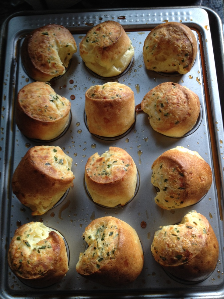 Herb and cheese popovers | From My Kitchen | Pinterest