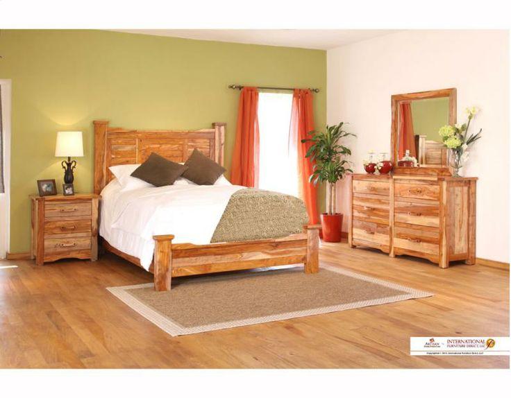 exotic hardwood bedroom set bedroom furniture pinterest