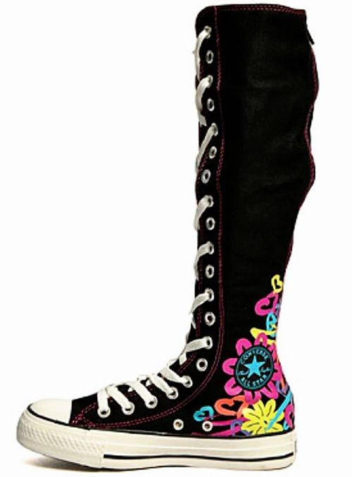 converse lace up knee high boots converse